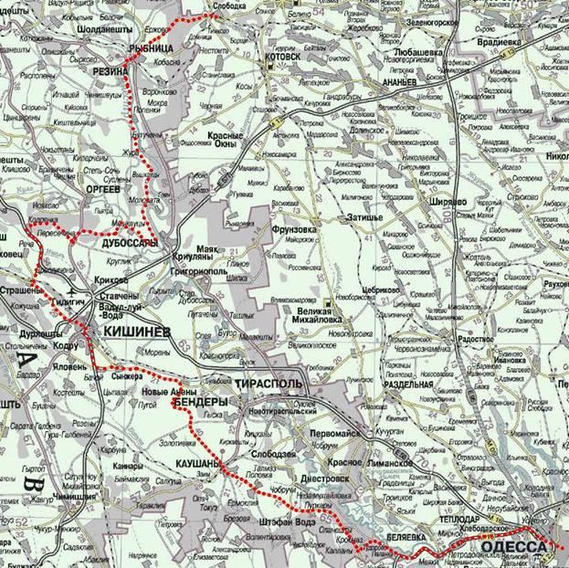 Схема пройденного маршрута